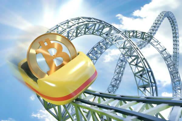 Bitcoin price rollercoaster in 2018