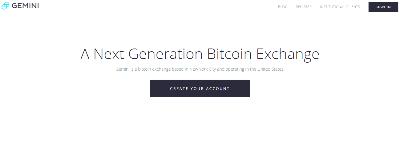 gemini bitcoin exchange