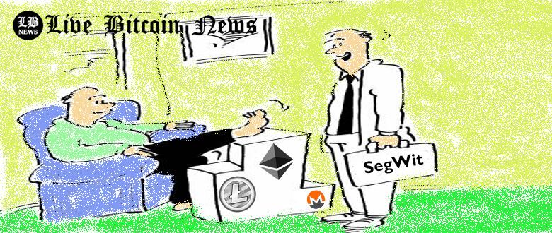 altcoin price update, altcoin market update, ethereum price, monero price, SegWit,