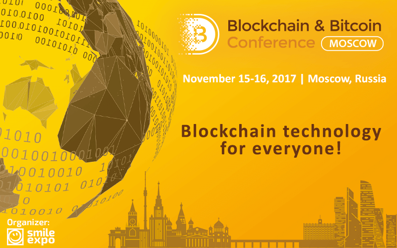 Blockchain conference, conference, moscow, russia, smile expo
