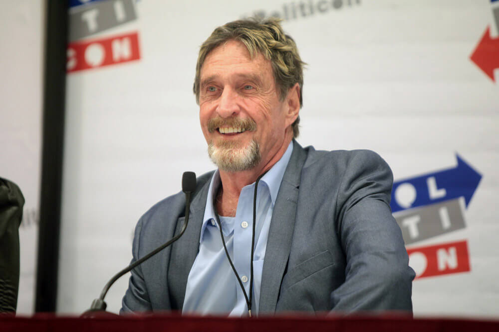 John McAfee Offers Phone Based on Ghost Coin Tech