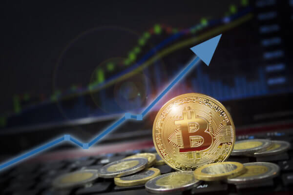 Bitcoin price upswing