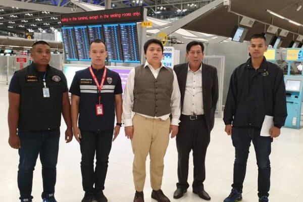 Police arrested Prinya Jaravijit as soon as he entered Thailand.