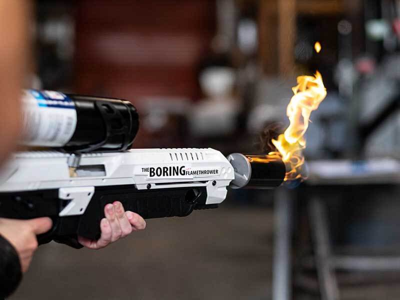 Elon Musk Backed Boring Flamethrower Now Accepting Bitcoin