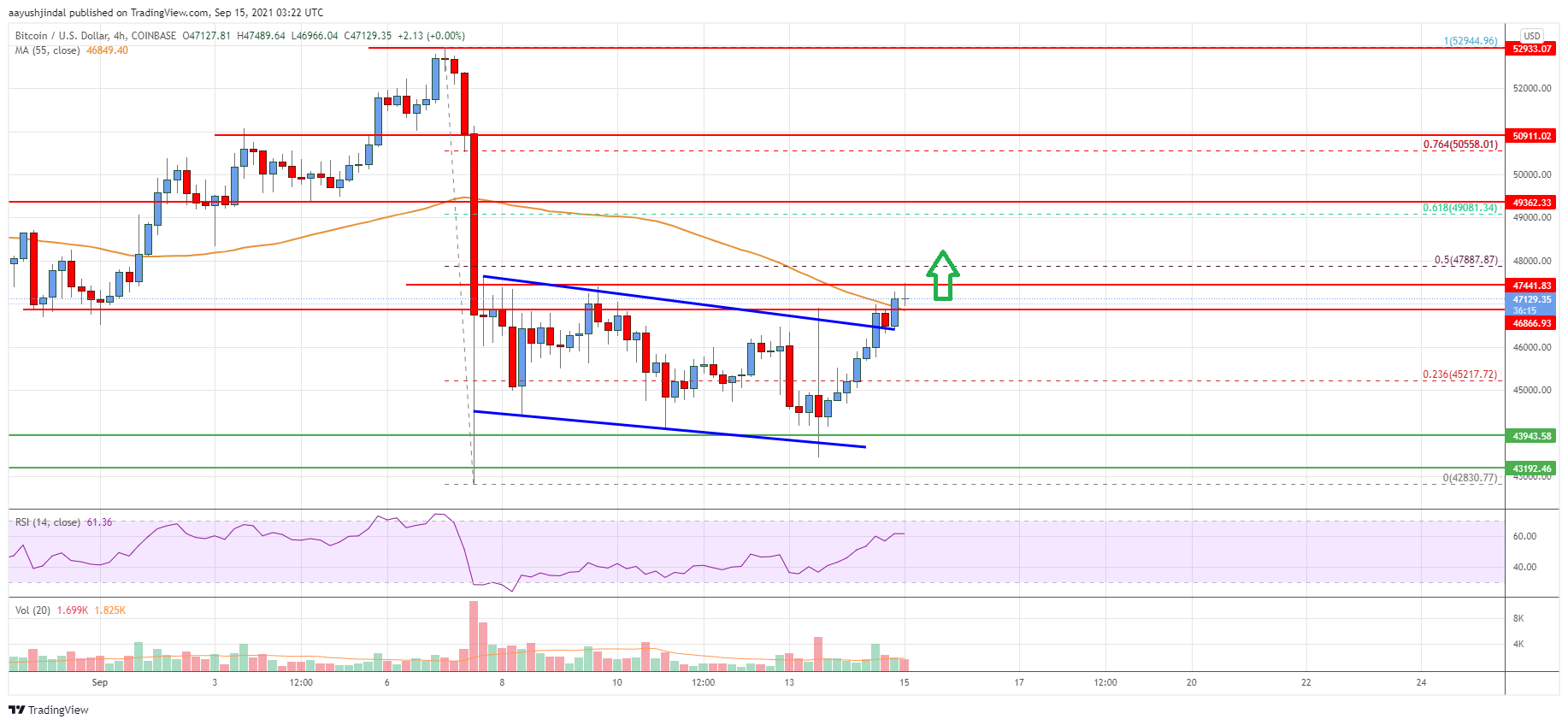 Bitcoin Price Analysis: BTC Eyes Fresh Test of $50K