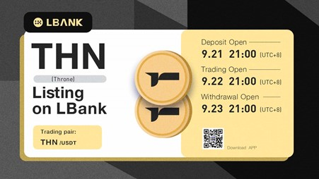 LBank Exchange Will List THN (Throne) on September 22, 2021